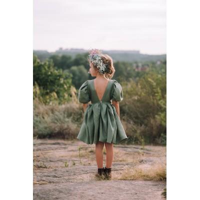 Sage green flower girl dress