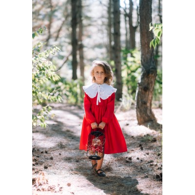 Red and white toddler christmas dress