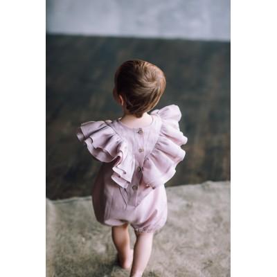 baby girl linen rompers